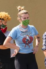Ireland Baldwin protesting in LA