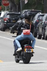 Ana De Armas Out cruising with Ben Affleck on his motorcycle