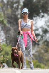 Alessandra Ambrosio Takes her dog for a walk in Pacific Palisades