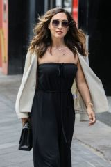 Myleene Klass Arrives at Global Studios in London