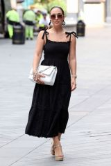 Myleene Klass Arriving at Smooth Radio Studios in London