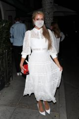Paris Hilton At Madeo Restaurant in Beverly Hills