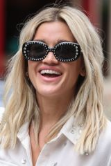Ashley Roberts Outside Heart FM in London