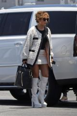 Jennifer Lopez Boarding a private plane with Alex Rodriguez in Van Nuys