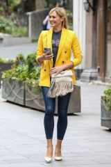Jenni Falconer Departing the Global Radio Studios in London