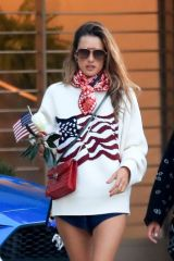 Alessandra Ambrosio Looking patriotic while out celebrating the 4th of July in Malibu