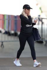 Mollie King Shows looks chic in casuals exit BBC studios in London