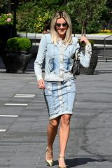 Ashley Roberts Seen at Global Radio Radio Studios in London