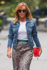 Amanda Holden Seen leaving Heart Radio in London