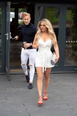 Bianca Gascoigne and Kris Boyson are seen heading out on their first real date