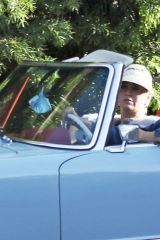 Katy Perry & Orlando Bloom are seen out for a spin in Santa Monica