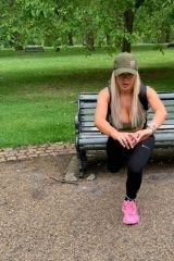 Chloe Ferry Is put through her paces by her personal trainer in London