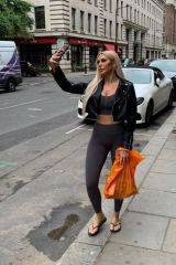 Chloe Ferry Spotted out and about picking up some essentials in London