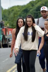Charlotte Crosby, Sophie Kasaei and Abbie Holborn go make-up free and get caught in the rain as they take a two hour walk