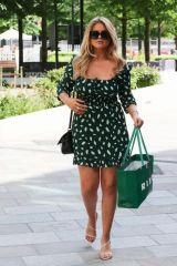 Emily Atack Leaving Sunday Brunch TV Show in London