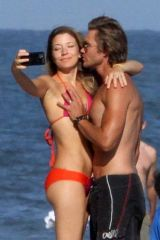 Chad Michael Murray & Sarah Roemer Enjoying a family day at the beach in Malibu