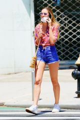 Candice Swanepoel Wears Hot Short Shorts When Out And About In New York