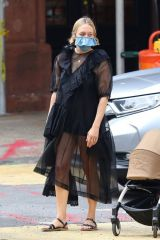 Chloe Sevigny Out shopping with boyfriend Sinisa Mackovic and their baby boy in Manhattan's Soho area