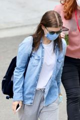 Kate Mara Returns to work amid the pandemic as she arrives to the set of 'A Teacher' in Los Angeles