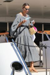 Natasha Poly Wearing protective mask in Saint-Tropez
