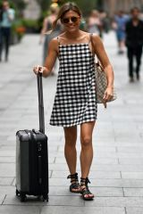 Zoe Hardman Seen Leaving Global Radio Studios in London