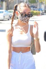 Madison Beer Leaving Il Pastaio in Beverly Hills