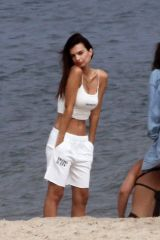 Emily Ratajkowski Has her friend do a photoshoot for her swimwear brand in New York