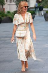 Amanda Holden Seen leaving Global Studios, Heart Radio in London