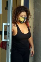 Justina Machado Seen leaving practice at the dance studio in Los Angeles
