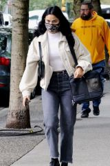 Camila Mendes Waits for an Uber in Vancouver