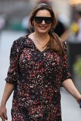 Kelly Brook Seen arriving at the Global Radio Studios in London