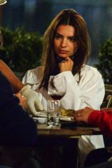 Emily Ratajkowski Enjoying dinner with a friend at il Buco in New York