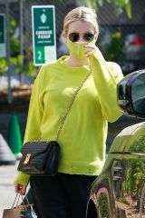 Emma Roberts Leaving Starbucks in Los Feliz