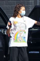 Zendaya Arrives at a studio in Los Angeles