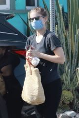 Kate Mara On a coffee run with her baby in Los Feliz