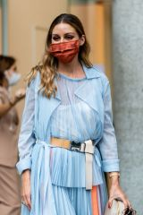 Olivia Palermo Is seen outside Sportmax's fashion show during the Milan Women's Fashion Week