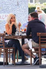 Donna D'Errico On a lunch date at Mauro Cafe in West Hollywood