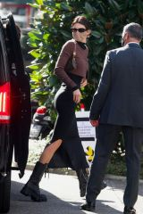 Kendall Jenner Arrives at Versace photoshoot in Milan, Italy