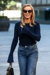 Amanda Holden Departing The Global Radio Studios In London