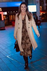 Kelly Brook Seen leaving global studios in a happy mood in London