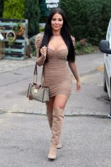 """Yazmin Oukhellou On the set of """"The only way is Essex"""" in Essex"""