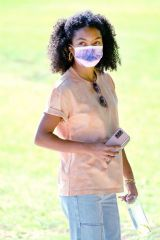 Yara Shahidi Out and about in Pasadena