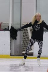 Denise Van Outen Pictured training today for ITV hit show 'Dancing on Ice' in London