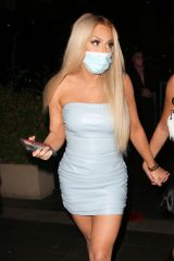 Tana Mongeau Leaving BOA steakhouse in West Hollywood