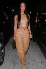 Draya Michele with LA Chargers QB Tyrod Taylor as they stepped for dinner in West Hollywood