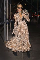 Paris Hilton Walks back to her apartment after meeting friends for dinner in New York