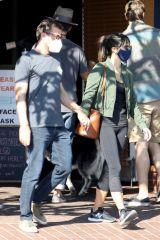 Jordana Brewster Out for lunch with her boyfriend in West Hollywood