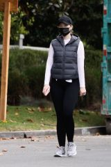 Katherine Schwarzenegger Goes for a brisk walk in Santa Monica