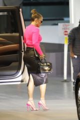 Jennifer Lopez Means business while arriving at a building in Beverly Hills