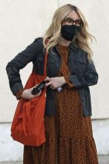 Emma Roberts Rocks a leopard print dress as she goes furniture shopping with her mom in Los Angeles